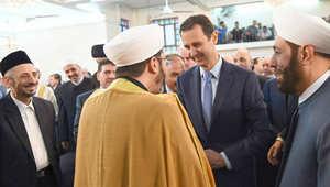 خطيب العيد لبشار الأسد: الله أقامك مقام خالد بن الوليد وعمر بن عبدالعزيز وصلاح الدين