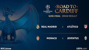 """""""ديربي مدريد"""" في نصف نهائي الأبطال ومانشستر يونايتد يواجه سيلتا فيغو في الدوري الأوروبي"""