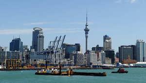 منظر عام لمدينة أوكلاند في نيوزيلندا