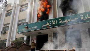 """مصر.. تجدد المصادمات بين الأمن و""""طلاب الإخوان"""" والجيش يقتحم جامعة المنصورة لأول مرة"""