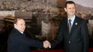 بوتفليقة للأسد: مرتاحون لمستوى علاقاتنا.. ونأمل انفراج الأزمة في سوريا