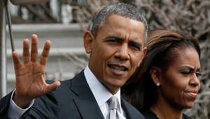 الرئيس الأمريكي باراك أوباما وزوجته ميشيل في صورة أرشيفية