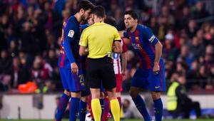 برشلونة يستأنف ضد طرد سواريز وإنذار بوسكيتس
