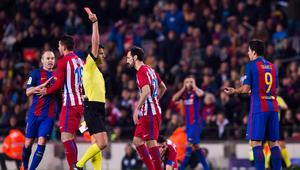 برشلونة يصل للنهائي من بوابة أتلتيكو في مباراة البطاقات الحمراء