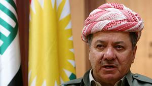 """بارزاني يتهم حكومة العراق بـ""""تجويع"""" إقليم كردستان"""