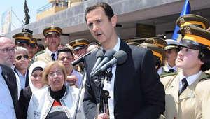 """الأسد بأول ظهور علني منذ سقوط إدلب يتعهد بوصول جيشه إلى جسر الشغور ويهاجم أردوغان و""""الجبناء"""""""