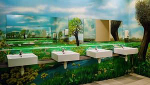 حمامات بشكل لوحة فنية في سنغافورة وسيؤل