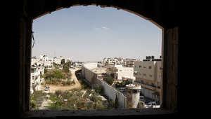 منظر عام لبلدة بيت حنينا، شمال شرقي القدس