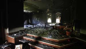 صورة أرشيفية لتفجير السفارة الأمريكية في بنغازي