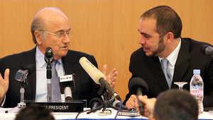 """هل تسفر انتخابات """"الفيفا"""" عن فوز ابن الحسين رئيساً تاسعاً أم تكتفي بثمانية آخرهم بلاتر؟"""