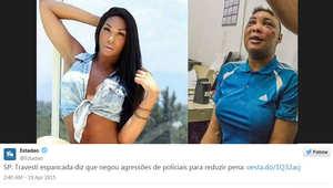جدل برازيلي بعد انتشار صور امرأة متحولة جنسياً تعرضت للضرب بالسجن