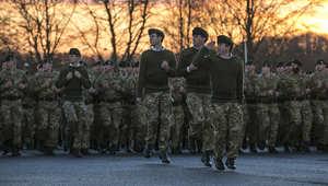 مجموعة من الجنود البريطانيين في أفغانستان