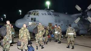 طائرة لسلاح الجو الأمريكي من طراز C-130 في قاعدة رامستين بألمانيا