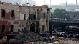 بالصور.. مشاهد أولية من تفجير القنصلية الإيطالية بالقاهرة