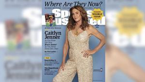 المتحولة جنسيا كاتلين جينر على غلاف مجلة رياضية تستعرض ميداليتها الذهبية الأولمبية التي ربحتها كرجل
