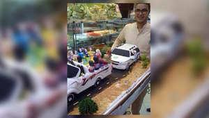 قطعة حلوى في السعودية تحاكي رجال الهيئة أثناء ملاحقتهم سيارة تقودها نساء