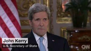 جون كيري لـCNN: وقف إطلاق النار بسوريا ممكن خلال الأسابيع الـ3 أو الـ4 المقبلة