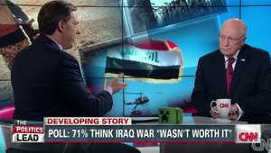 تشيني لـCNN: بوش هزم القاعدة بينما تعلن اليوم خلافتها.. والتاريخ سيسجل فشل أوباما والمالكي