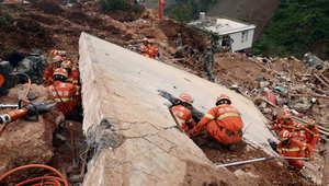 كارثة جديدة بالصين.. انهيار أرضي يبتلع 65 شخصاً