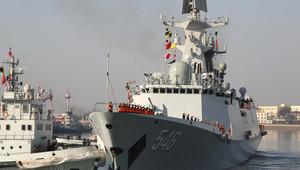 فرقاطة صينية في البحر الأبيض المتوسط للمشاركة في حراسة نقل الاسلحة الكيماوية