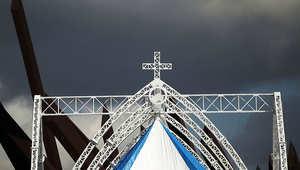 جانب من الموقع الذي زاره البابا بينيدكتوس في كوبا قبل نحو عامين