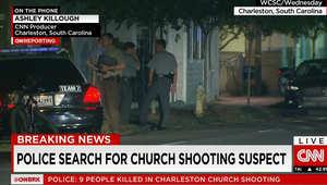 توتر ورعب بالشارع وانتشار أمني كبير.. الصور الأولى لمقتل 9 بكنيسة في أمريكا