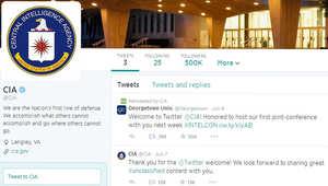 حساب وكالة الاستخبارات المركزية سي أي أيه على تويتر