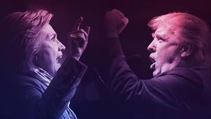 حملة كلينتون تهاجم ترامب حول تقارير تعامله مع مصرف إيراني دعم حزب الله وطالبان وحماس