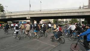 من مسيرة الدراجات