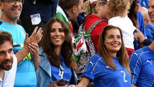 بالصور.. مشجعات وزوجات لاعبين في مدرجات اليورو