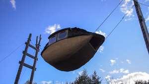 قارب الطين الطائر اليابان