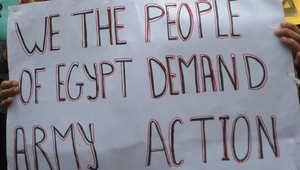 احتجاجات لمصريين في كينيا