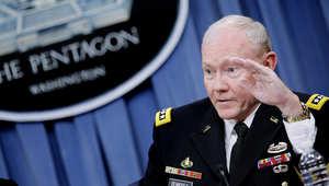 """ديمبسي لـCNN: لدينا استراتيجية لدحر """"داعش"""" وقد نلجأ لهجوم بري بعملية """"العزم التام"""" وأستبعد سقوط بغداد"""