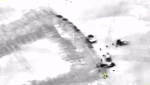 """الدفاع الروسية تنشر فيديو للغارة التي """"أصيب"""" بها زعيم النصرة أبومحمد الجولاني"""