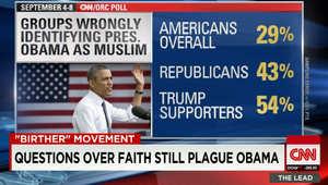 هل هو مسلم أم مسيحي؟ ديانة الرئيس الأمريكي باراك أوباما تعود للواجهة بعد كلمة لدونالد ترامب.. وهذا ما أظهره استطلاع لـCNN