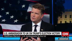 سفير واشنطن بلندن لـCNN: دخول جيش أمريكا لسوريا دون دعوة له عواقب