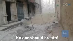 """هيومن رايتس ووتش تنشر تقريرا """"يظهر"""" استخدام نظام سوريا للكيماوي"""