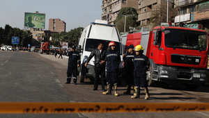 صورة أرشيفية لما أعقب انفجار عبوة هز سابقا منطقة الدقي في يناير/كانون الثاني