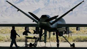 طائرات أمريكية مسلحة بدون طيار بأجواء بغداد وإسقاط مروحية عراقية بتكريت