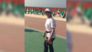 """بالفيديو.. الأميرة هيا بنت الحسين تشارك في """"مسيرة دبي للمشي 24 ساعة"""""""
