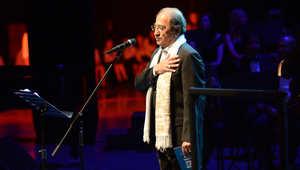 الفنان السوري دريد لحام خلال الاحتفالية