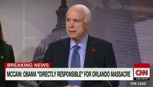 جون ماكين: أوباما مسؤول بصورة مباشرة عن هجوم أورلاندو.. فهو من سمح بوصول داعش إلى ما هو عليه اليوم