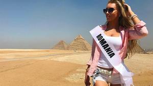 ملكات جمال يشاركن في مسابقة ملكة جمال البيئة بزيارة الى منطقة الأهرامات