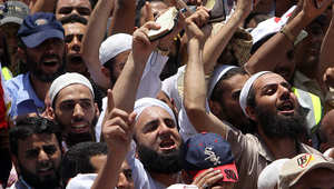 صورة أرشيفية لمظاهرة سابقة للجبهة السلفية في مصر