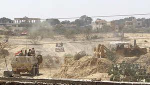 صورة ملتقطة من جنوبي غزة للجيش المصري