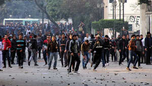 مصادمات بين الأمن والإخوان وإحراق أعلام أمريكا وإسرائيل والإمارات