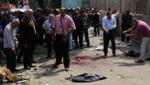 موقع تفجير عبوة ناسفة بالقاهرة الأحد