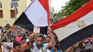 مصريون يرفعون علم بلادهم خلال حملات انتخابية