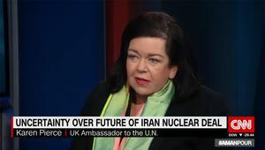 سفيرة بريطانيا بالأمم المتحدة لـCNN: اذا انسحبت أمريكا من الاتفاق النووي الإيراني دون فرض عقوبات فأمام طهران فرصة