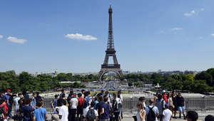 منظر عام لبرج إيفل في العاصمة الفرنسية باريس
